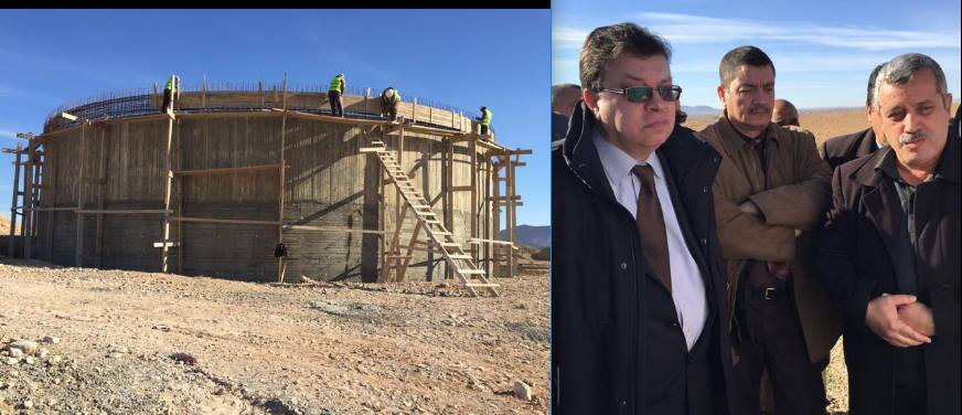 مسؤول الهيئة التنفيذية في زيارة عمل وتفقد لبلديات دائرة بن سرور