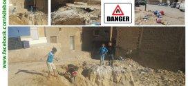 صورة وتعليق .. حفرة بوسط مدينة بوسعادة خطر على ألاولاد وحي بكامله