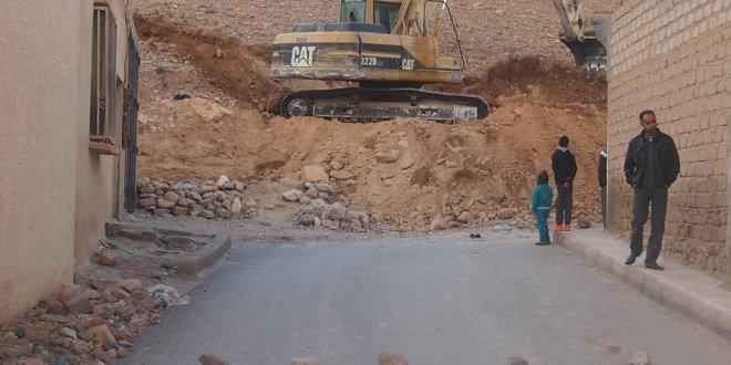 فتح طريق محاذي لجبل كردادة خلف المركز الثقافي ببوسعادة