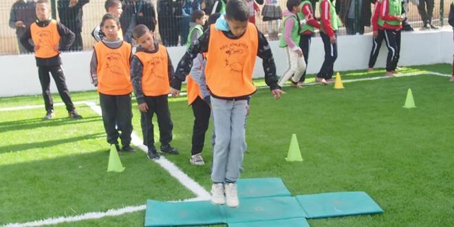 ملتقى الولائي لالعاب القوى للاطفال بالملعب الجواري لحي اول نوفمبر ببوسعادة