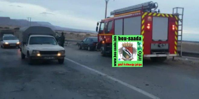 قتيل وثلاثة جرحي في حادث مرور خطير عند مخرج بوسعادة تجاه بسكرة