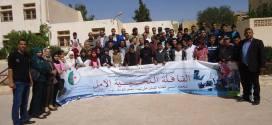 قافلة  تحسيسية الامل للتحضر النفسي لطلبة المقبلين على الامتحانات بدائرة جبل امساعد