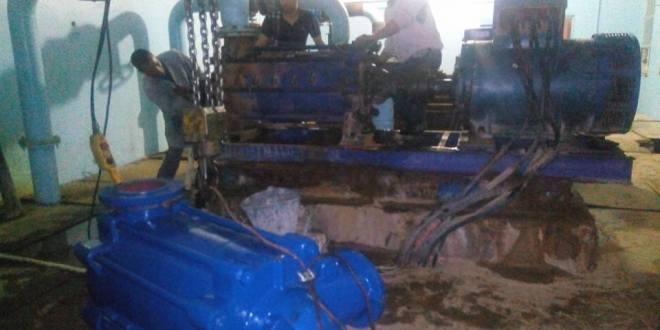اقتناء مضخة افقية من طرف مصالح الجزائرية للمياه
