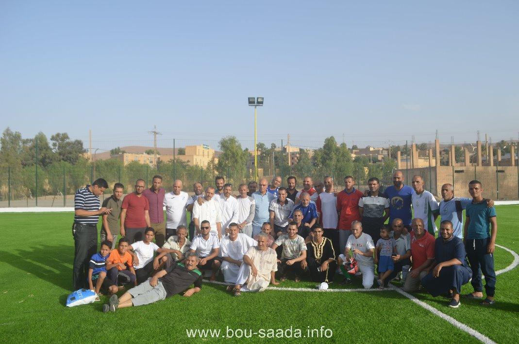 رئيس بلدية بوسعادة السيد عمران لمبارك يشرف على أفتتاح ملعب 20 أوت الجواري لكرة القدم بأشراف