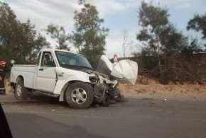 حادث وفاة يؤدي بحياة اربعة اشخاص بطريق المعذر