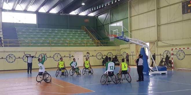 الجولة الرابعة من بطولة الكراسي المتحركة لكرة السلة  امل بوسعادة. 115 اتحاد البرج.33