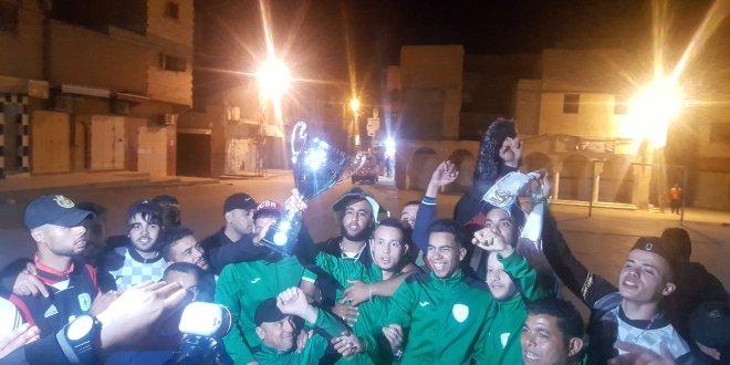 فيديو استقبل امل بوسعادة للكراسي المتحركة بعد تتويجه بلقب البطولة الوطنية