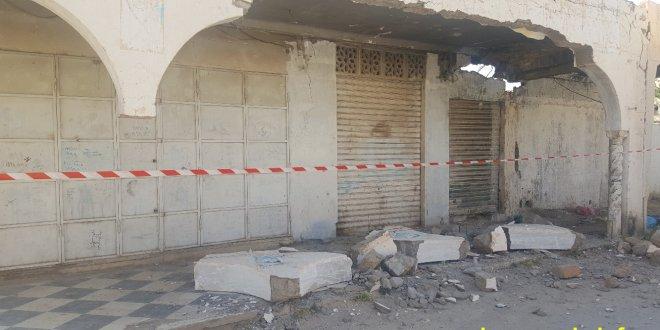 سقوط سقف بناية مهجورة بحي اولاد احميدة لم يخلف خسائر ويبقى الخطر قائم