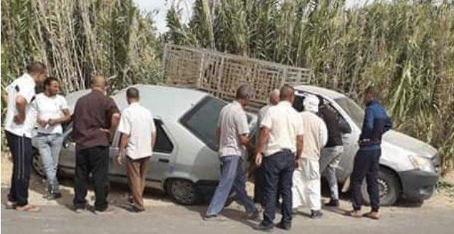 اصابة 4 اشخاص في حادث مرور بمنطقة الغرابة بلدية الخبانة