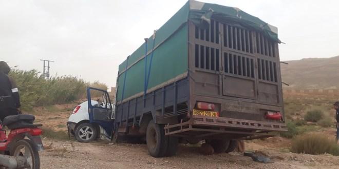 حادث مرور خطير بطريق الوطني رقم 89 بمدخل عين الملح