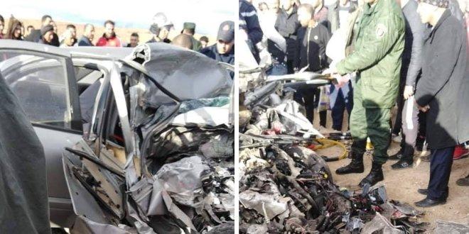 وفاة سائق سيارة وتسجيل إصابات خفيفة بين الطلبة في حادث مرور بالطريق الوطني رقم 60