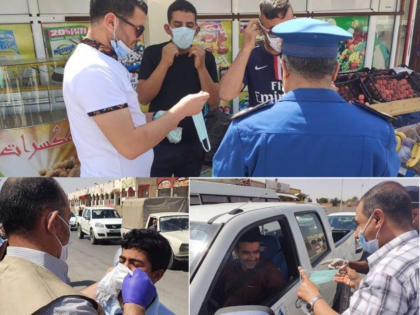 حملة تحسيسية للوقاية من فيروس الكرورنا ببلدية الشلال