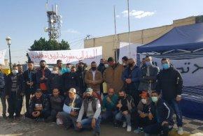 طالبي القطع الارضية يواصلون احتجاجهم لليوم الرابع
