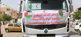 انطلاق قافلة تضامنية مع الشعب الفلسطيني محملة المواد الغذائية والمعدات الكهربائية.