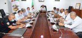 السيد والي الولاية يترأس اجتماعا لدراسة الوضعية الوبائية لفيروس كورونا