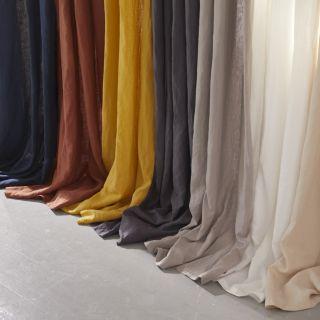 rideau uni a motifs obscurcissant