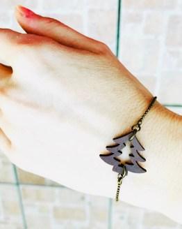 Bracelet sapin marron en bois