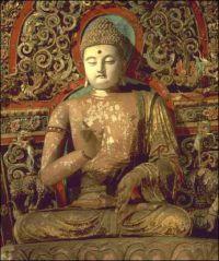 Sculpture de bouddha l'éveillé