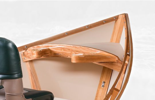 White Ash Drift Boat Interior with Durable Varnish Finish