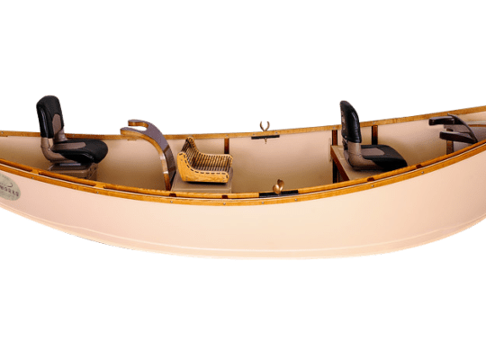 Drift boat with Rower's Rope Seat