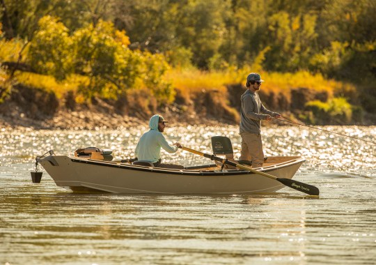 Fishing in a Boulder Skiff