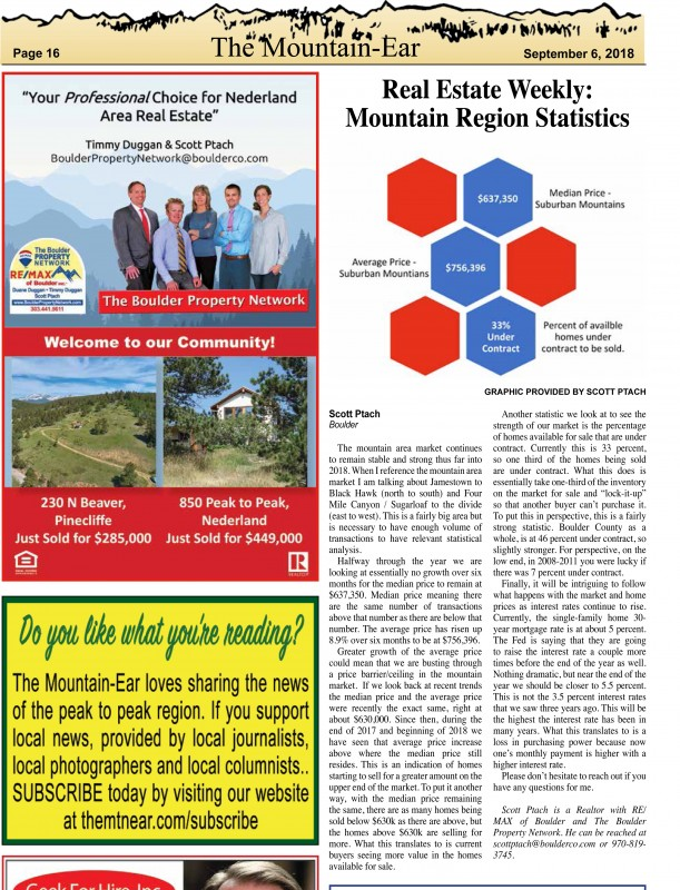 Check out our 1st Article in the Nederland Mountain-Ear!