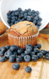 Blueberry muffin: Up the blueberry flavor by mixing some crushed berries into the batter and folding in whole berries.