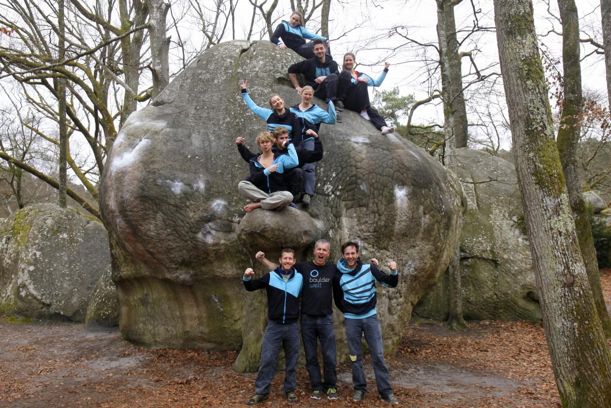 Fontainebleau 2016 Ostern Teamfahrt Gruppenfoto