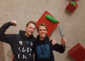 Boulderwelt Athletenteam beim I sicha scho