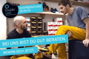 Die Boulderwelt Dortmund sucht Shopberater (M/W/D)