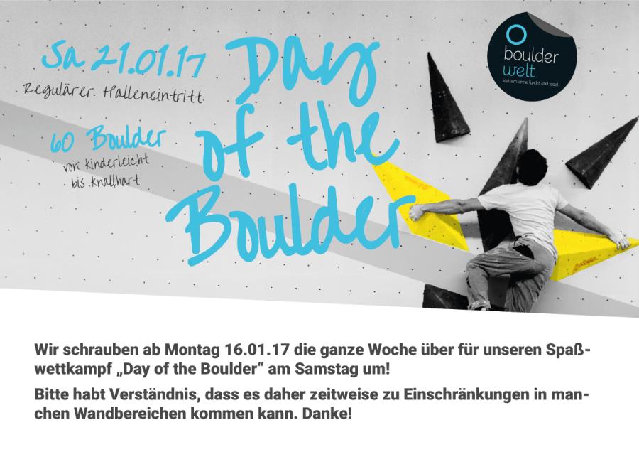 Wir schrauben für den Day of the Boulder 2017 um