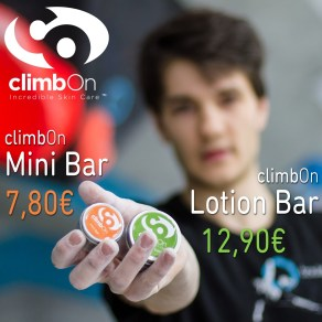 climbOn Lotion Bar und Mini Bar