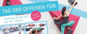 Am 9. September ist Tag der offenen Tür 2017 in der Boulderwelt Frankfurt