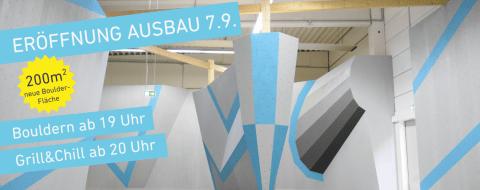 Eröffnung unserers neuen ausbaus mit zusätzlicher 200m² BParcoursfläche.