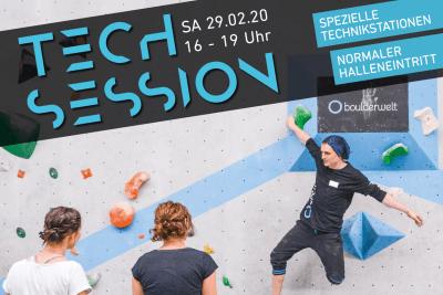 Tech Session Nr 5 2020 in der Boulderwelt Frankfurt