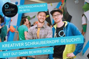 Die Boulderwelt Frankfurt sucht Routenschrauber