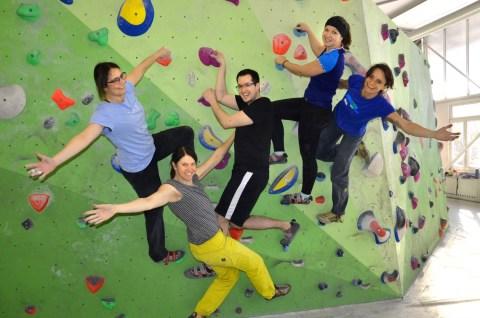 Bouldern mit MS - Workshop Kletterwerkstatt in der Boulderwelt München Ost