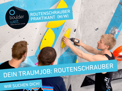 Die Boulderwelt München sucht wissbegierigen Nachwuchs für ein 3-monatiges Praktikum im Routenbau