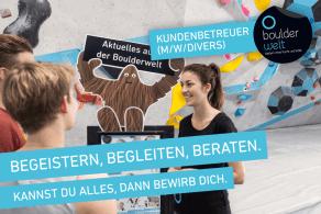 Die Boulderwelt München Ost sucht Kundenbetreuer (m/w/divers) auf Minijob-Basis