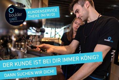 Stellenausschreibung Boulderwelt München Ost sucht Servicemanager Theke