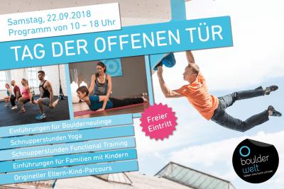 Tag der offenen Tür am 22.9.2018 in der Boulderwelt München West