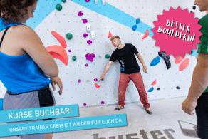 Kursprogramm der Boulderwelt München West während Corona