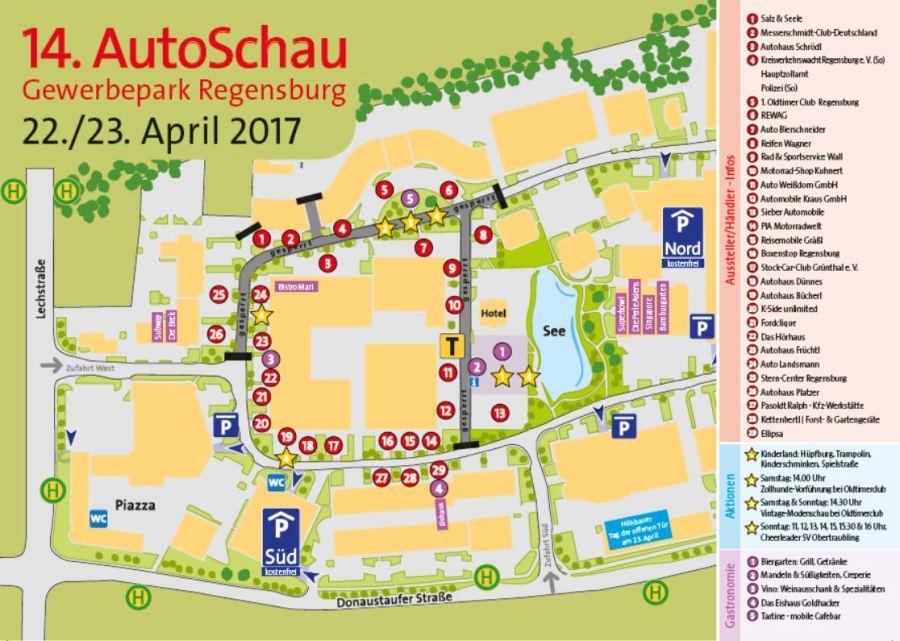 Autoschau 2017 Zufahrt Boulderwelt