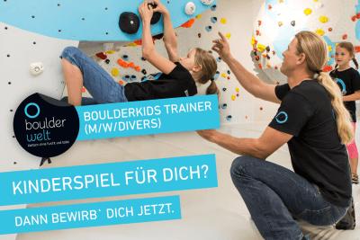 Stellenausschreibung – Jobs – Boulderwelt München West sucht Boulderkids Trainer (m/w/divers)