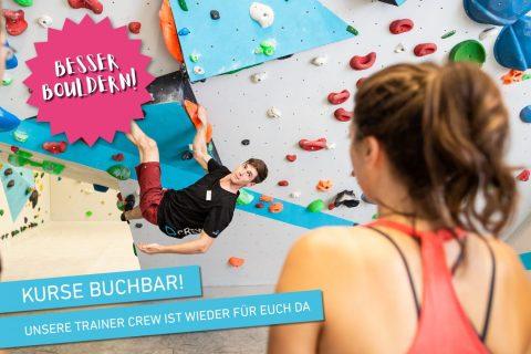 Kursprogramm der Boulderwelt Regensburg während Corona