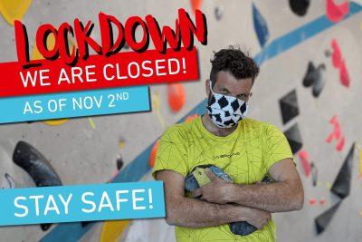 Vorläufige Hallenschließung ab 2.11. aufgrund des erneuten Lockdowns.