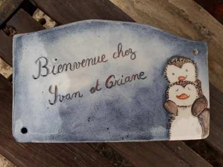 plaque de maison personnalisée d'après une illustration