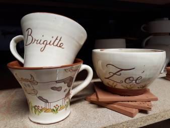 Mug personnalisé Brigitte, mug décors vache