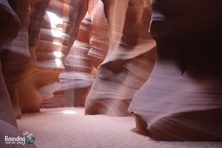 Pastel colors of the wind-carved walls in Antelope Canyon