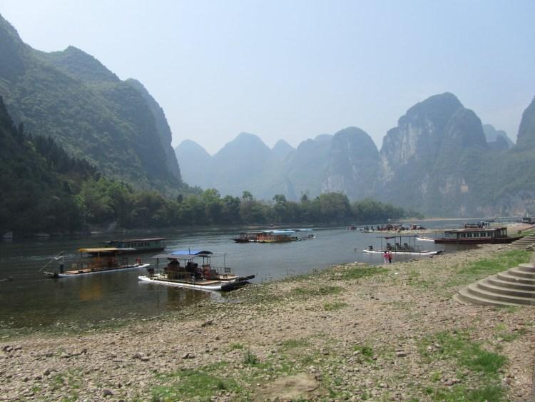 Hiking Along the Li River - Yangshuo - Boats